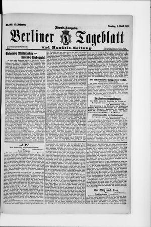 Berliner Tageblatt und Handels-Zeitung vom 01.04.1913