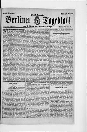 Berliner Tageblatt und Handels-Zeitung vom 02.04.1913