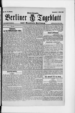 Berliner Tageblatt und Handels-Zeitung vom 05.04.1913