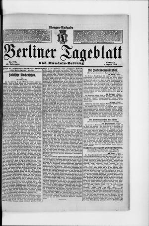 Berliner Tageblatt und Handels-Zeitung vom 06.04.1913