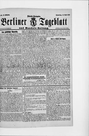 Berliner Tageblatt und Handels-Zeitung vom 10.04.1913