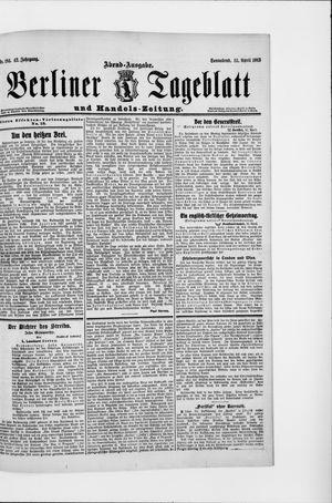 Berliner Tageblatt und Handels-Zeitung vom 12.04.1913