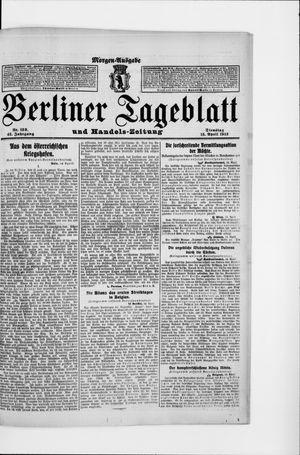 Berliner Tageblatt und Handels-Zeitung vom 15.04.1913