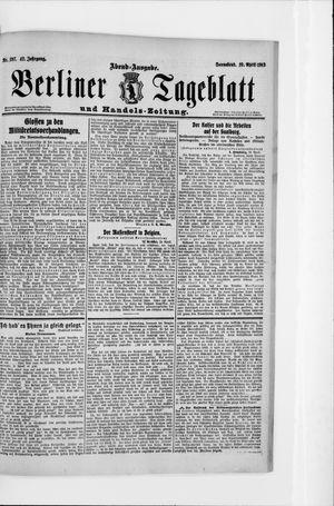 Berliner Tageblatt und Handels-Zeitung vom 19.04.1913