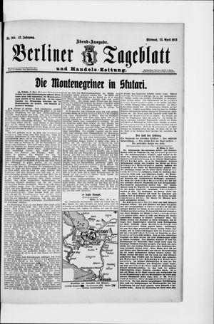 Berliner Tageblatt und Handels-Zeitung on Apr 23, 1913