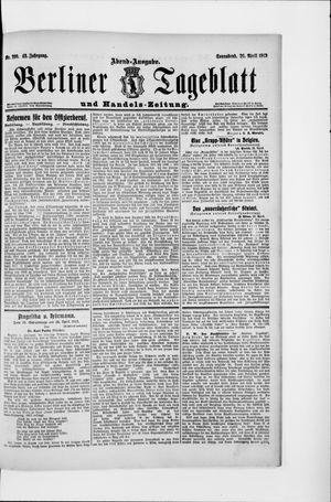 Berliner Tageblatt und Handels-Zeitung vom 26.04.1913