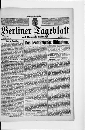 Berliner Tageblatt und Handels-Zeitung vom 30.04.1913