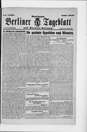 Berliner Tageblatt und Handels-Zeitung vom 03.05.1913
