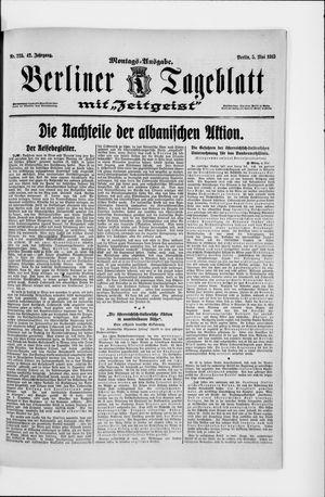 Berliner Tageblatt und Handels-Zeitung vom 05.05.1913