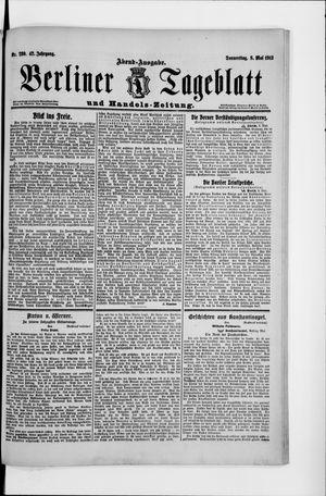 Berliner Tageblatt und Handels-Zeitung vom 08.05.1913