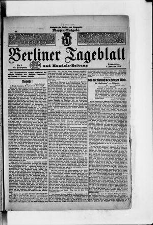 Berliner Tageblatt und Handels-Zeitung vom 01.01.1914