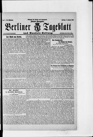 Berliner Tageblatt und Handels-Zeitung vom 02.01.1914