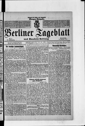 Berliner Tageblatt und Handels-Zeitung vom 03.01.1914