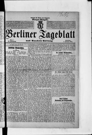 Berliner Tageblatt und Handels-Zeitung vom 04.01.1914