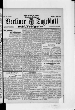 Berliner Tageblatt und Handels-Zeitung vom 05.01.1914