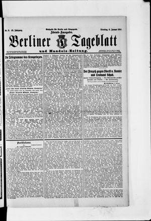 Berliner Tageblatt und Handels-Zeitung vom 06.01.1914