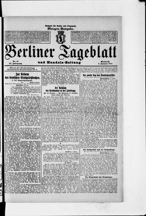 Berliner Tageblatt und Handels-Zeitung vom 07.01.1914