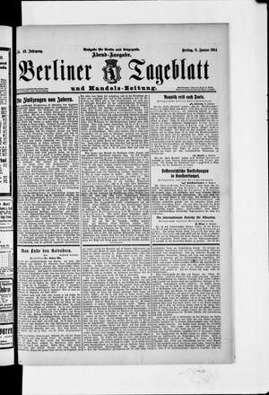 Berliner Tageblatt und Handels-Zeitung vom 09.01.1914