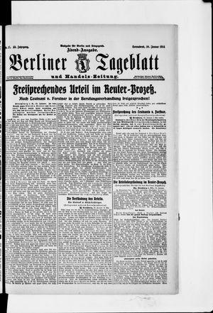 Berliner Tageblatt und Handels-Zeitung vom 10.01.1914