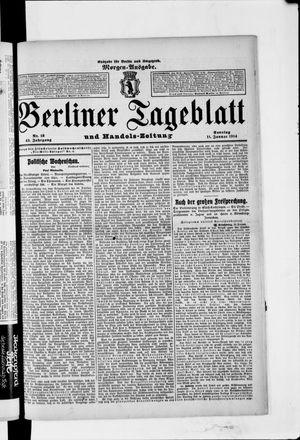 Berliner Tageblatt und Handels-Zeitung vom 11.01.1914