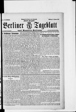 Berliner Tageblatt und Handels-Zeitung vom 12.01.1914