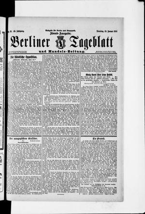 Berliner Tageblatt und Handels-Zeitung vom 13.01.1914