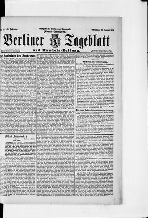 Berliner Tageblatt und Handels-Zeitung on Jan 14, 1914