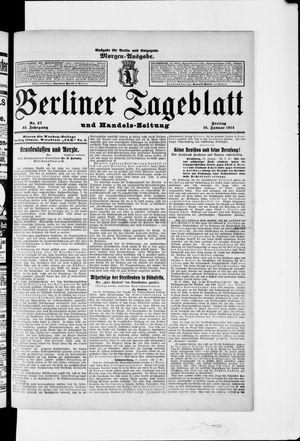 Berliner Tageblatt und Handels-Zeitung vom 16.01.1914