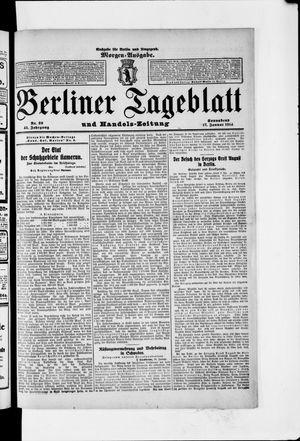 Berliner Tageblatt und Handels-Zeitung vom 17.01.1914