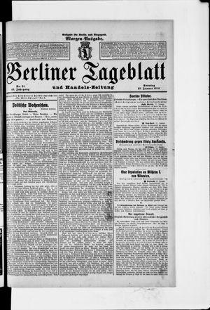 Berliner Tageblatt und Handels-Zeitung vom 18.01.1914