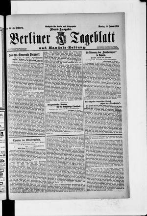 Berliner Tageblatt und Handels-Zeitung vom 19.01.1914