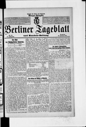 Berliner Tageblatt und Handels-Zeitung vom 20.01.1914