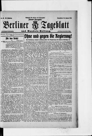 Berliner Tageblatt und Handels-Zeitung vom 24.01.1914