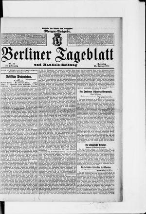 Berliner Tageblatt und Handels-Zeitung vom 25.01.1914