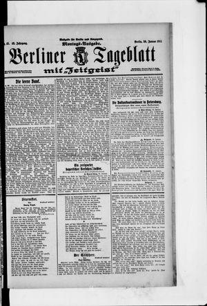 Berliner Tageblatt und Handels-Zeitung vom 26.01.1914