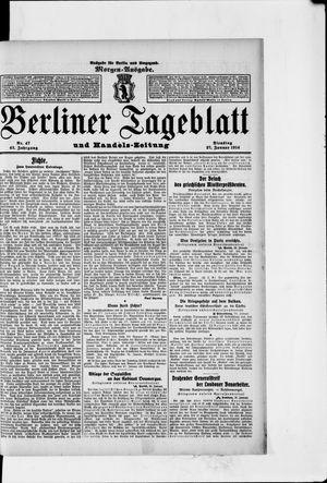 Berliner Tageblatt und Handels-Zeitung vom 27.01.1914