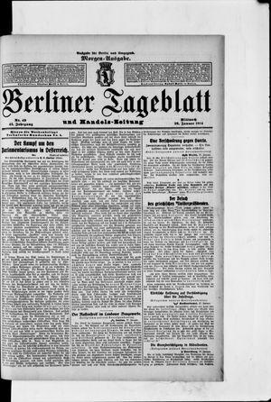 Berliner Tageblatt und Handels-Zeitung vom 28.01.1914