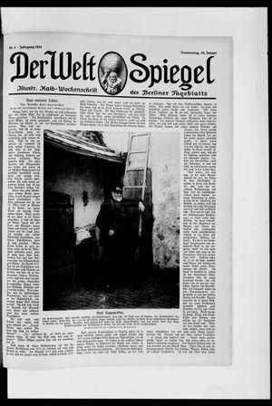 Berliner Tageblatt und Handels-Zeitung on Jan 29, 1914