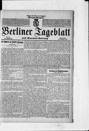 Berliner Tageblatt und Handels-Zeitung vom 31.01.1914