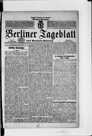 Berliner Tageblatt und Handels-Zeitung vom 01.02.1914
