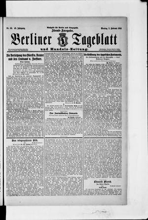 Berliner Tageblatt und Handels-Zeitung vom 02.02.1914