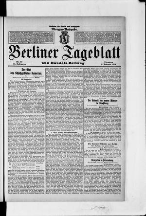 Berliner Tageblatt und Handels-Zeitung vom 03.02.1914