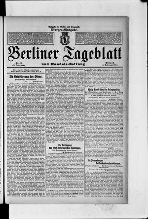 Berliner Tageblatt und Handels-Zeitung on Feb 4, 1914