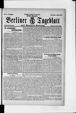 Berliner Tageblatt und Handels-Zeitung vom 05.02.1914