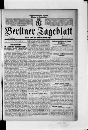 Berliner Tageblatt und Handels-Zeitung vom 07.02.1914
