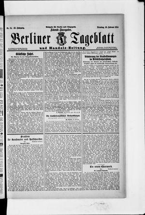 Berliner Tageblatt und Handels-Zeitung vom 10.02.1914