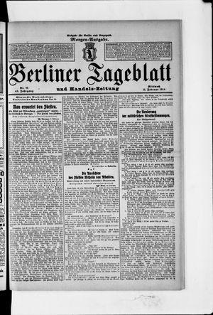 Berliner Tageblatt und Handels-Zeitung vom 11.02.1914