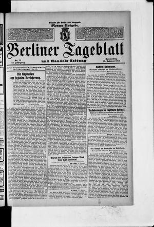 Berliner Tageblatt und Handels-Zeitung vom 12.02.1914