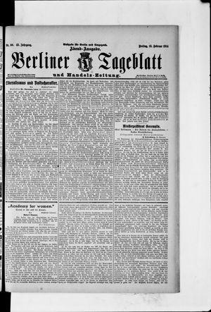 Berliner Tageblatt und Handels-Zeitung vom 13.02.1914
