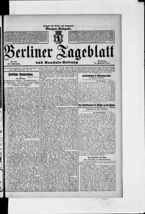 Berliner Tageblatt und Handels-Zeitung vom 15.02.1914